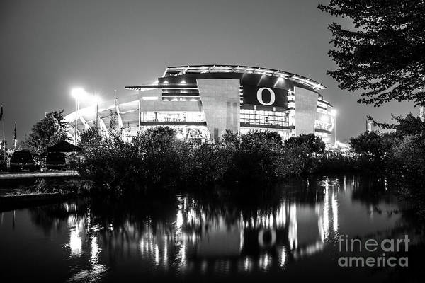Photograph - Autzen 2017bw by Michael Cross