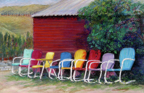 11x14 Painting - Available Seating by Jan Hardenburger