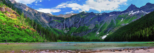 Photograph - Avalanche Lake Panorama by Greg Norrell