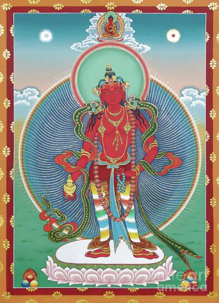 Thangka Painting - Avalokiteshvara Korwa Tongtrug by Sergey Noskov