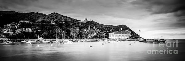 Avalon Wall Art - Photograph - Avalon Bay Black And White Panorama Picture by Paul Velgos