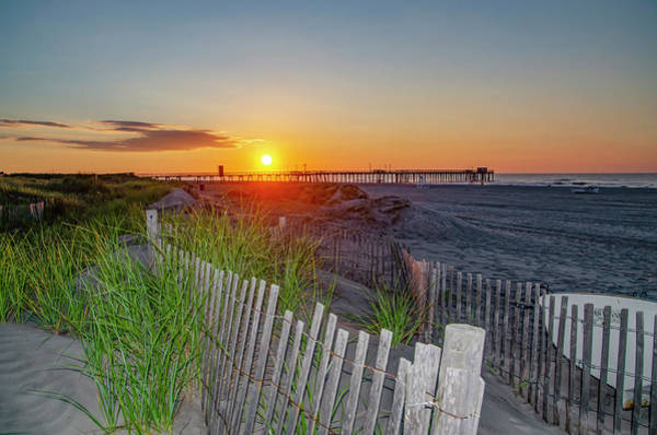 Photograph - Avalon Beach At Sunrise - New Jersey by Bill Cannon