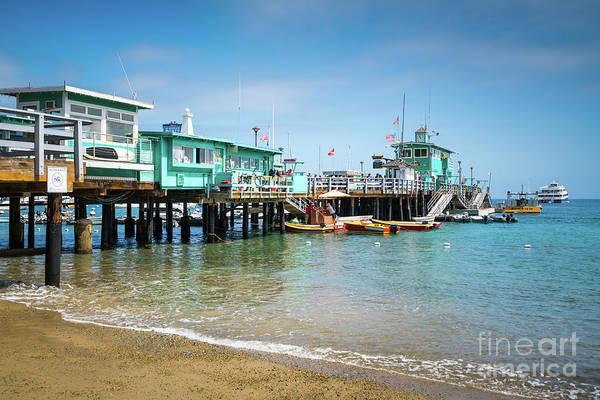 Wall Art - Photograph - Avalon Green Pleasure Pier On Catalina Island by Paul Velgos