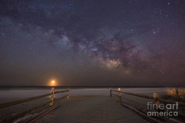 Moonrise Photograph - Avalon New Jersey Milky Way Rising  by Michael Ver Sprill