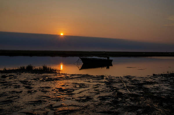 Wall Art - Photograph - Avalon New Jersey - Sunrise Fishing Boat by Bill Cannon