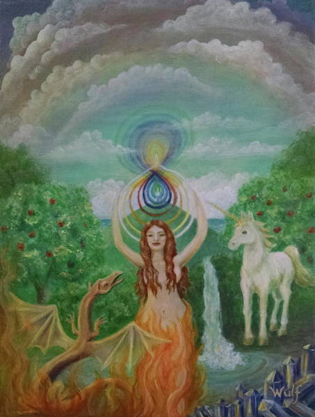 Painting - Avalon Portal by Bernadette Wulf