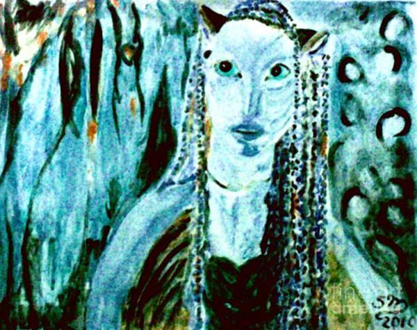 Painting - Avatar Five Pointalist Impression by Stanley Morganstein