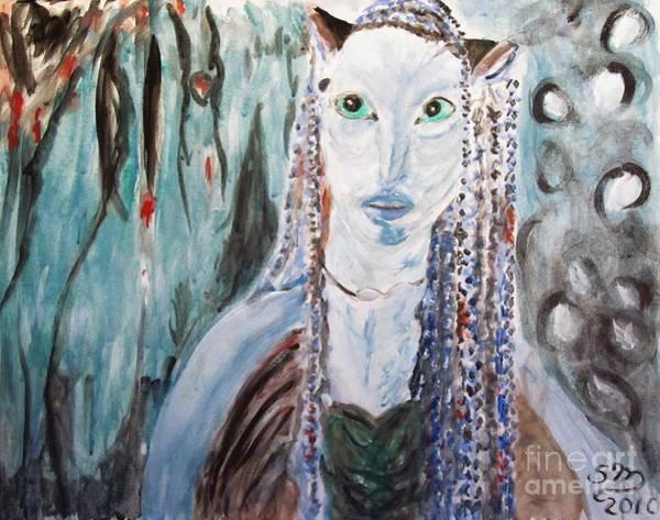 Painting - Avatar Portrait Of Alien Woman by Stanley Morganstein