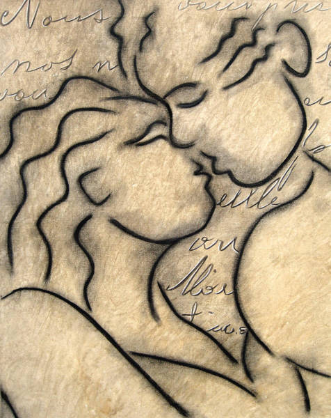 Wall Art - Painting - Avec Amour by Tom Fedro - Fidostudio
