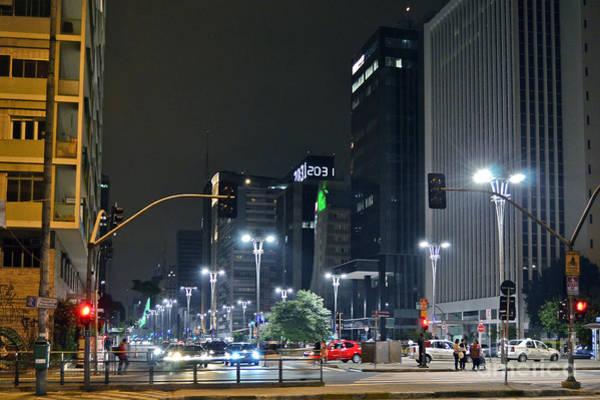 Photograph - Avenida Paulista - Sao Paulo - Brazil by Carlos Alkmin