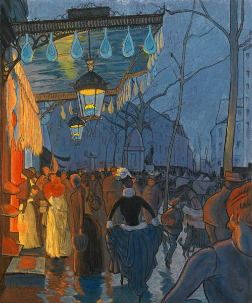 Drawing - Avenue De Clichy. Five O'clock In The Evening by Louis Anquetin