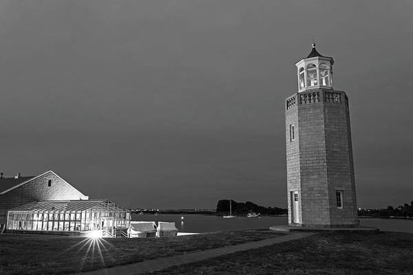 Wall Art - Photograph - Avery Point Lighthouse Groton Ct Connecticut Black And White by Toby McGuire