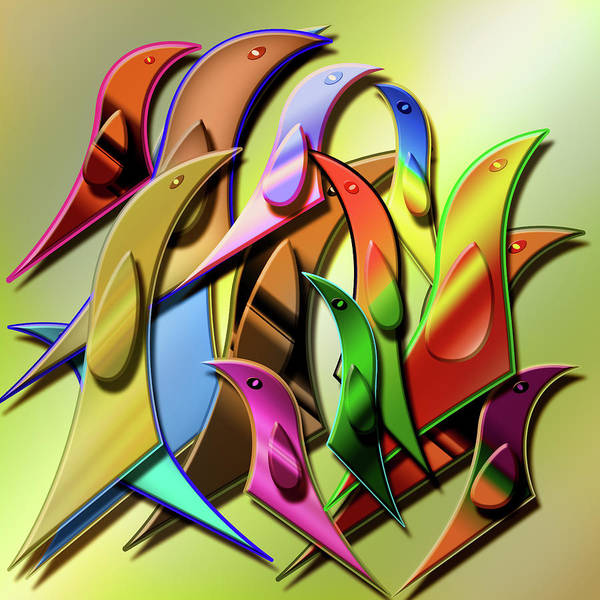 Showpiece Digital Art - Aviary In Harmony by Andy Young