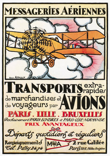 Photograph - Aviation Poster, 1919 by Granger