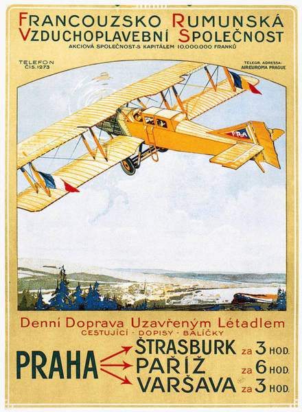 Photograph - Aviation Poster, 1922 by Granger