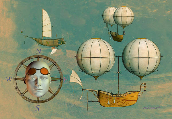Mixed Media - Aviator by Valerie Anne Kelly