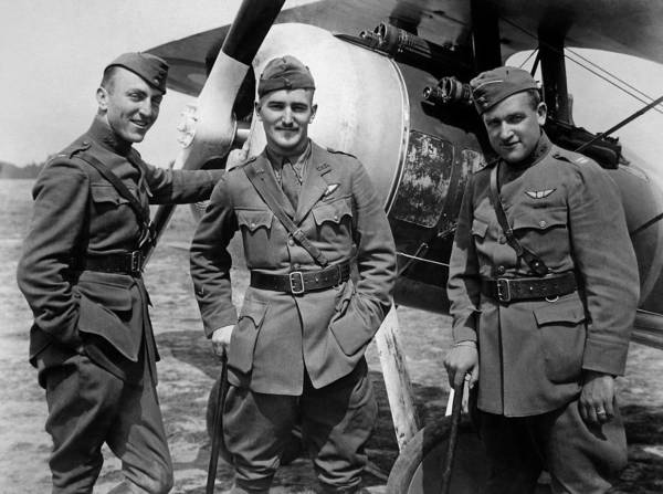 Army Air Corps Photograph - Aviators Of The 94th Aero Squadron - World War I by War Is Hell Store