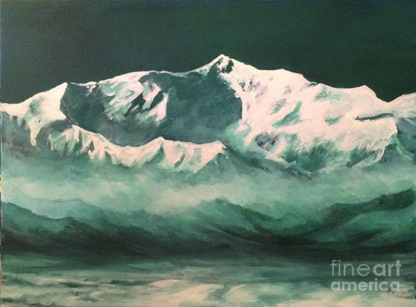Lenin Painting - Avicenna Peak by Roman Gumanyuk