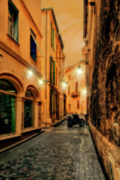 Photograph - Avignon Alley At Sunset by Kay Brewer
