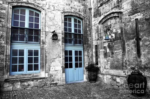 Photograph - Avignon Courtyard Fusion by John Rizzuto
