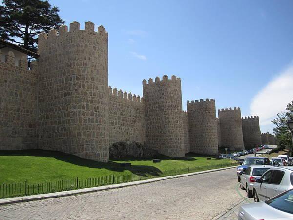Photograph - Avila Ancient Castle Wall Iv Spain by John Shiron