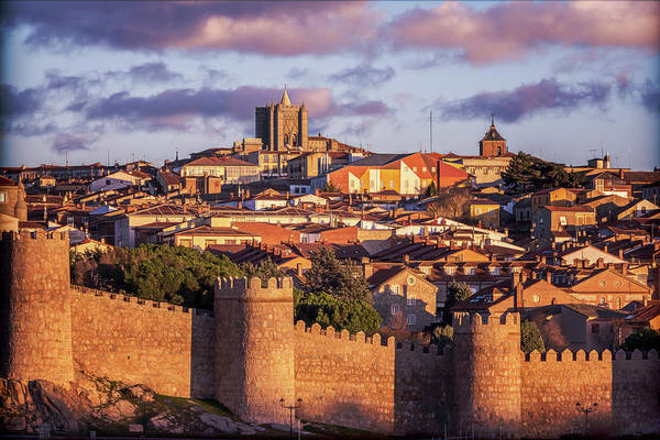 Photograph - Avila Spain Late Afternoon Vintage by Joan Carroll