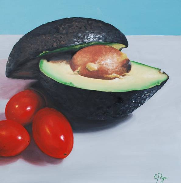 Painting - Avocado And Cherry Tomatoes by Emily Page