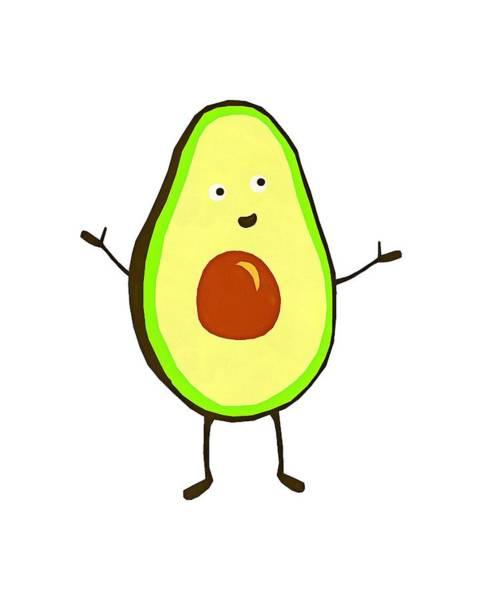 Vegan Drawing - Avocado Fruit by Fan Rizky