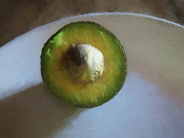 Mixed Media - Avocado In Morning Light  by Lynda Lehmann