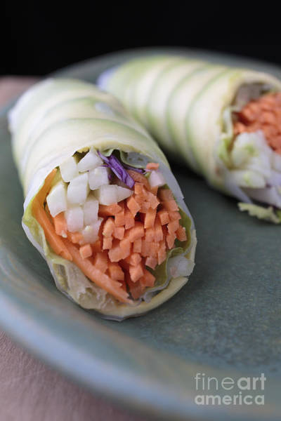 Asian Food Photograph - Avocado Roll Sushi by Edward Fielding