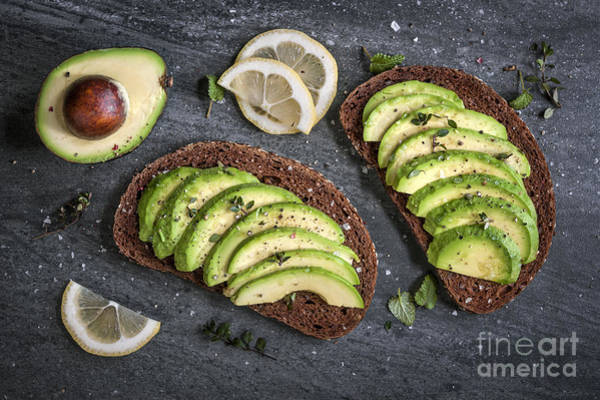Wall Art - Photograph - Avocado Sandwich by Elena Elisseeva