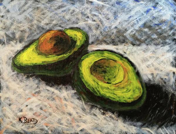 Wall Art - Painting - Avocado Study 1 by Karla Beatty