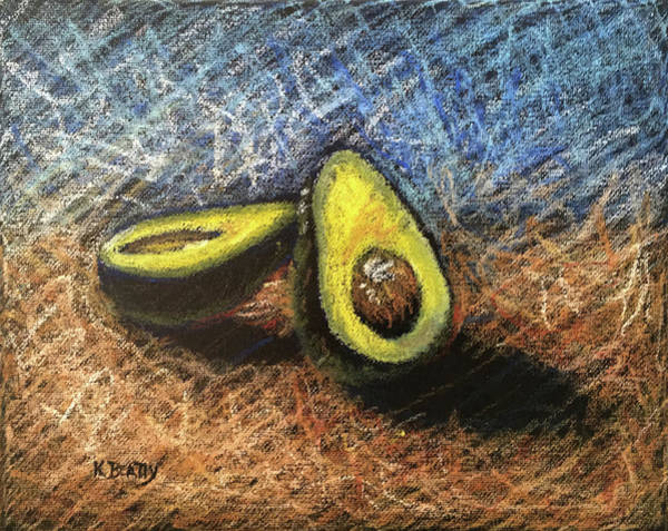 Wall Art - Painting - Avocado Study 2 by Karla Beatty