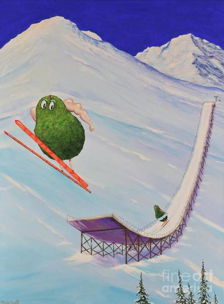 Painting - Avocados Can Fly by Mary Scott