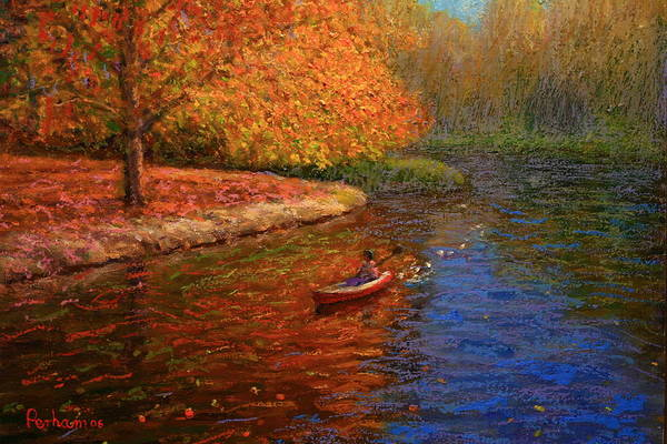Nz.impressionist Painting - Avon In Autumn by Terry Perham