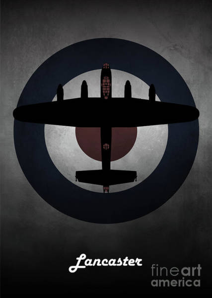 Wall Art - Digital Art - Avro Lancaster Raf by J Biggadike