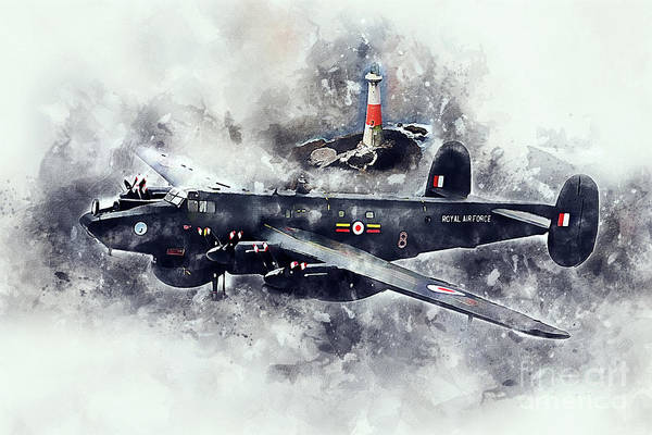 Wall Art - Digital Art - Avro Shackleton Aew2 Painting by J Biggadike
