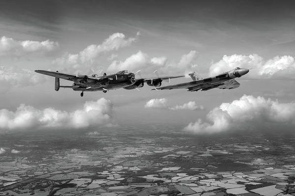 Photograph - Avro Sisters Bw Version by Gary Eason