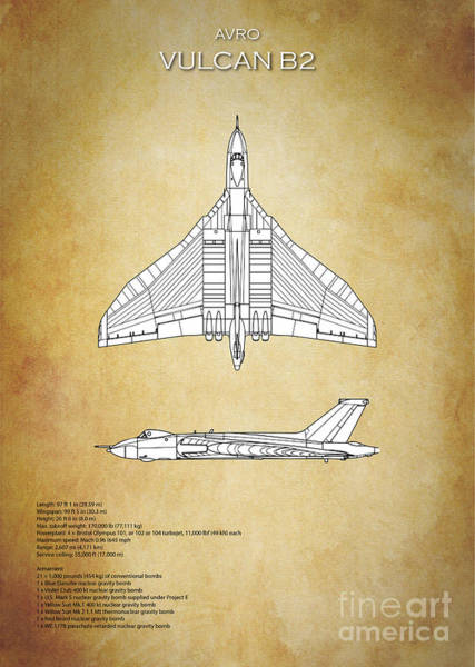 Wall Art - Digital Art - Avro Vulcan Bomber B2 by J Biggadike