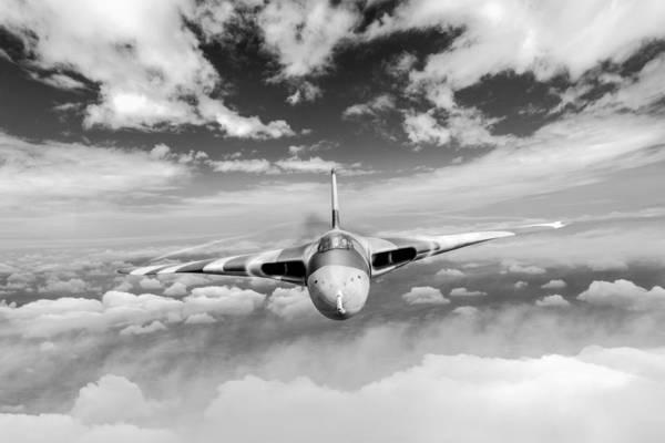 Digital Art - Avro Vulcan Head On Above Clouds by Gary Eason