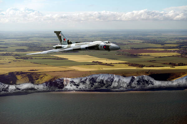 Photograph - Avro Vulcan Over The White Cliffs Of Dover by Gary Eason