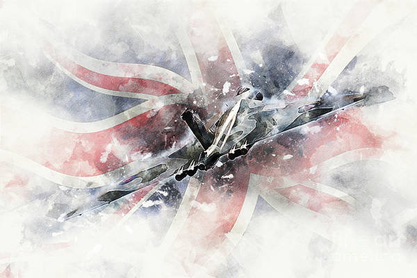 Wall Art - Digital Art - Avro Vulcan - Painting 2 by J Biggadike