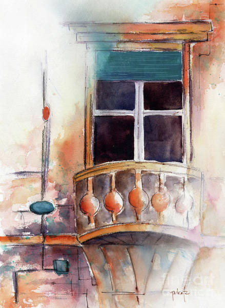 Painting - Awaiting Juliette Or Maybe Rapunzel by Pat Katz