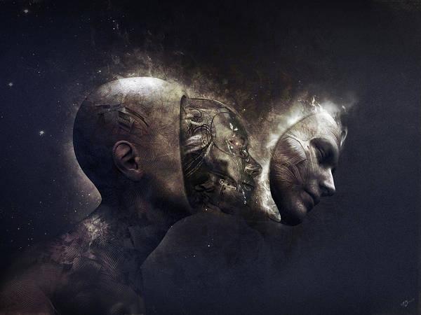 Cyborg Digital Art - Awaken by Cameron Gray