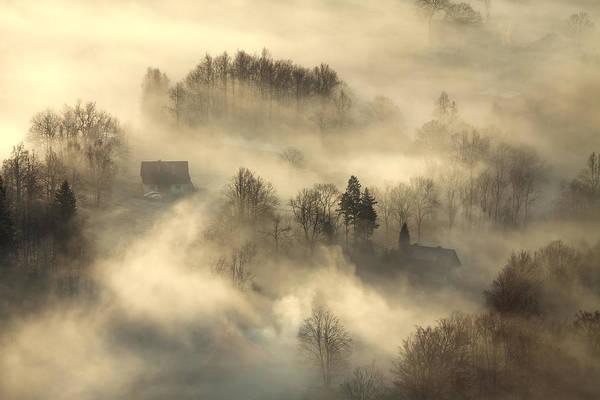Fog Photograph - Awakening by Izabela Laszewska-mitrega
