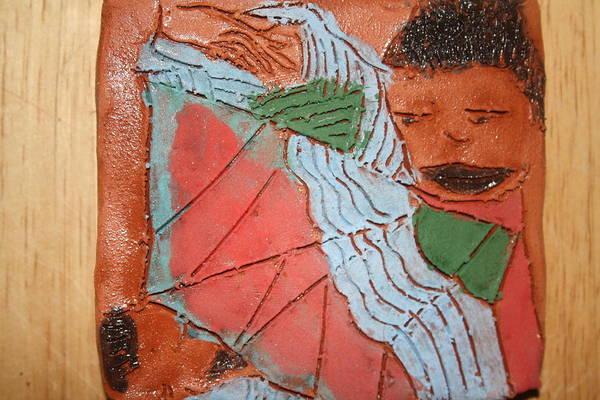Ceramic Art - Awakens - Tile by Gloria Ssali