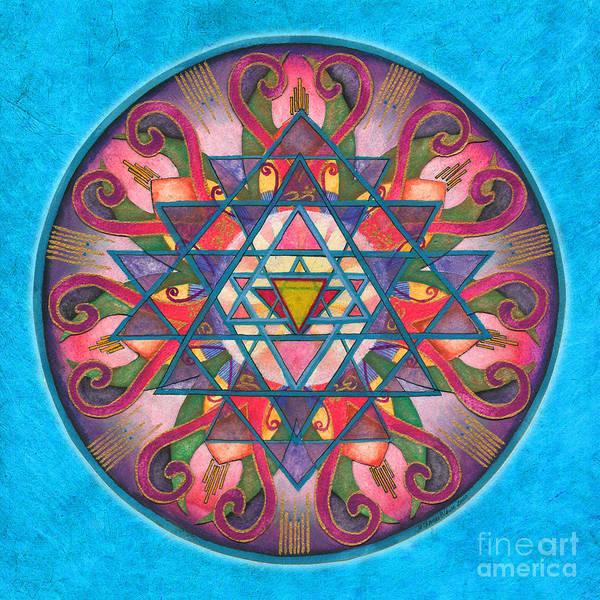 Painting - Awareness Mandala by Jo Thomas Blaine