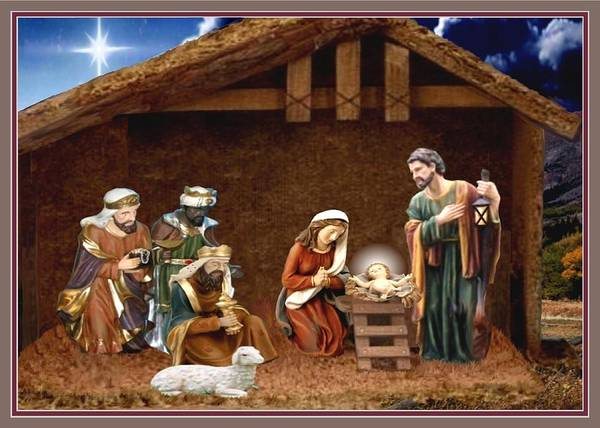 Star Of Bethlehem Painting - Away In The Manger by Ron Chambers