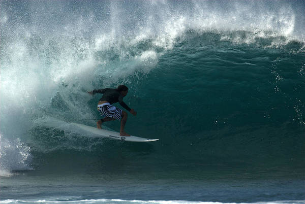 Photograph - Awesome Barrel At Pipe by Brad Scott