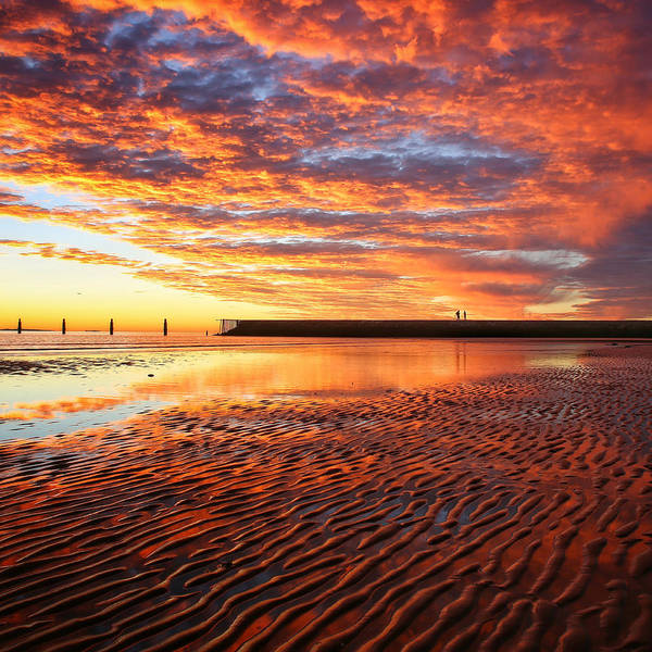 Photograph - Awesome Sunrise Skies Over The Shorncliffe Sea Wall by Keiran Lusk